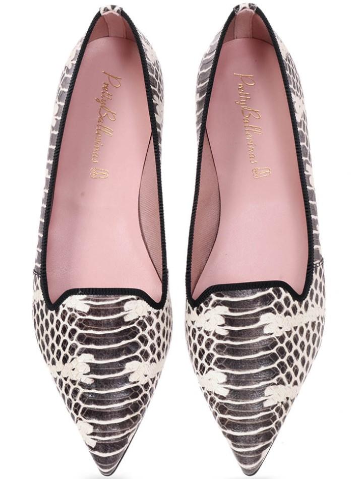 Alyssa|אבן|אפור|נעלי בובה|נעלי בלרינה|נעליים שטוחות|נעליים נוחות|ballerinas