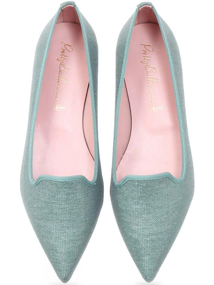 Hollyhock|ירוק|נעלי בובה|נעלי בלרינה|נעליים שטוחות|נעליים נוחות|ballerinas