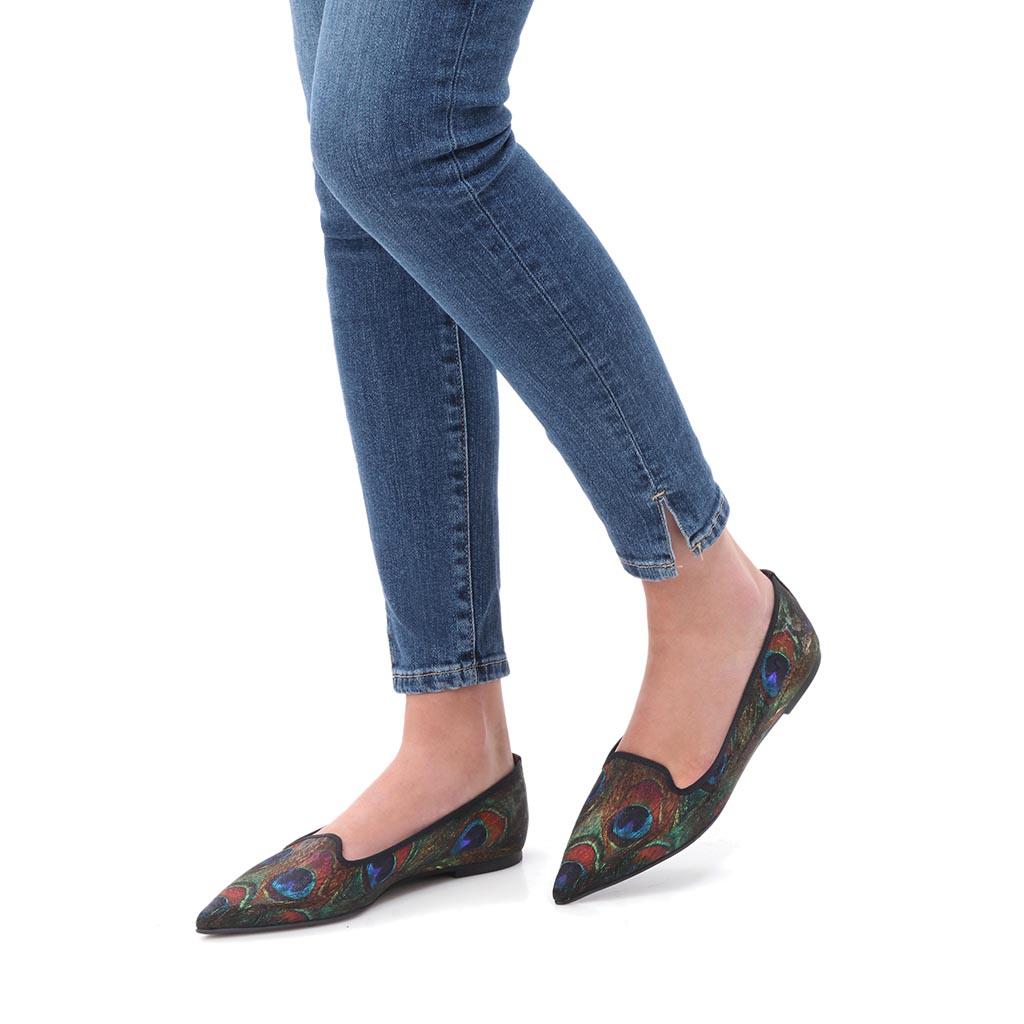 Esther|כחול|ירוק|צהוב|נעלי בובה|נעלי בלרינה|נעליים שטוחות|נעליים נוחות|ballerinas