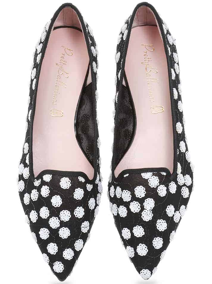 Provence Perfection|שחור|לבן|נעלי בובה|נעלי בלרינה|נעליים שטוחות|נעליים נוחות|ballerinas