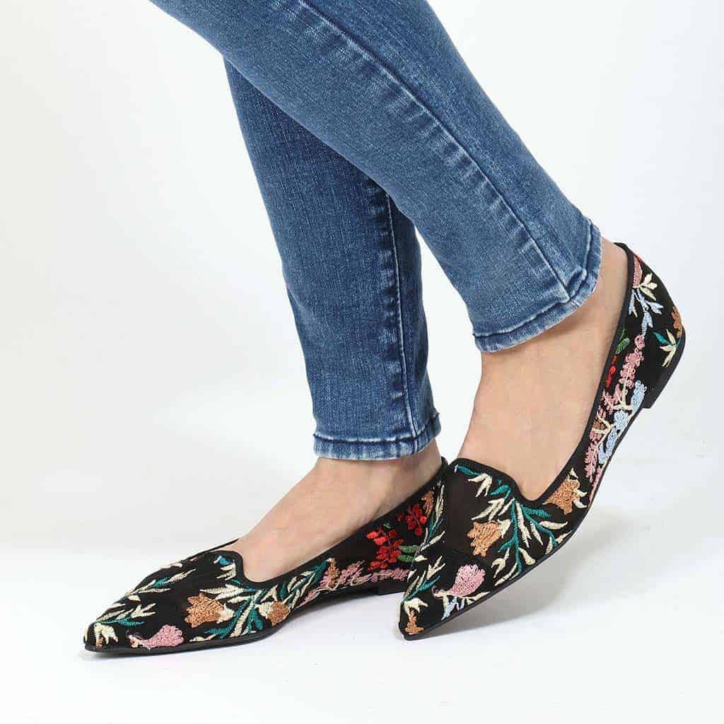 Deep Perfection|שחור|אדום|ירוק|נעלי בובה|נעלי בלרינה|נעליים שטוחות|נעליים נוחות|ballerinas