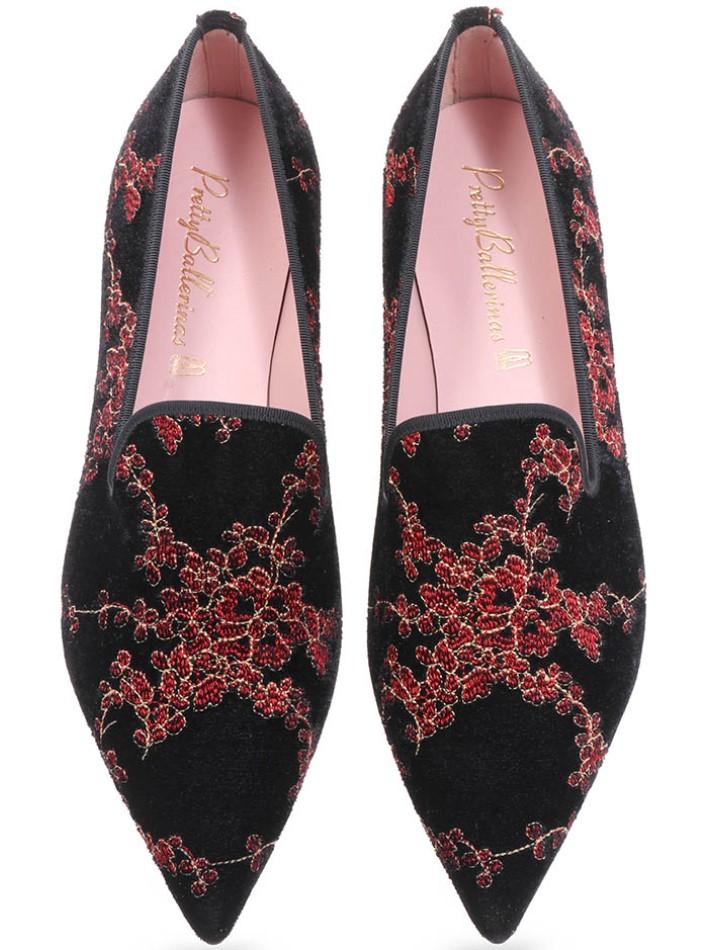 Rachel|שחור|אדום|זהב|נעלי בובה|נעלי בלרינה|נעליים שטוחות|נעליים נוחות|ballerinas