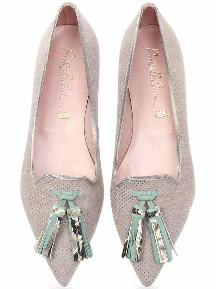 Rain Vibe|אפור|כסף|ירוק|נעלי בובה|נעלי בלרינה|נעליים שטוחות|נעליים נוחות|ballerinas