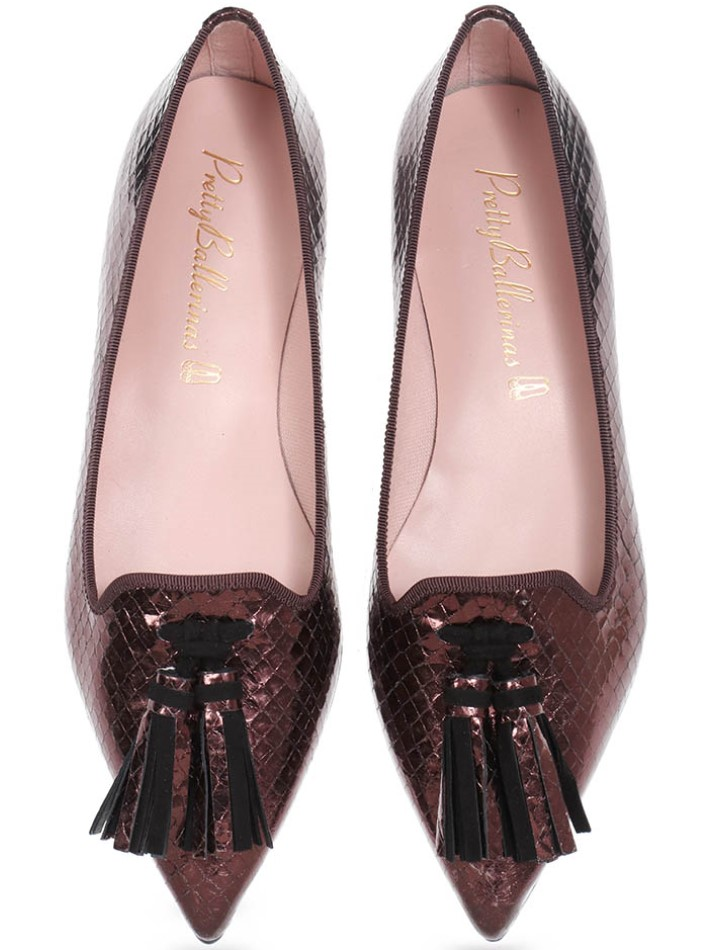 Bronze Snake|נחושת|שחור|נעלי בובה|נעלי בלרינה|נעליים שטוחות|נעליים נוחות|ballerinas