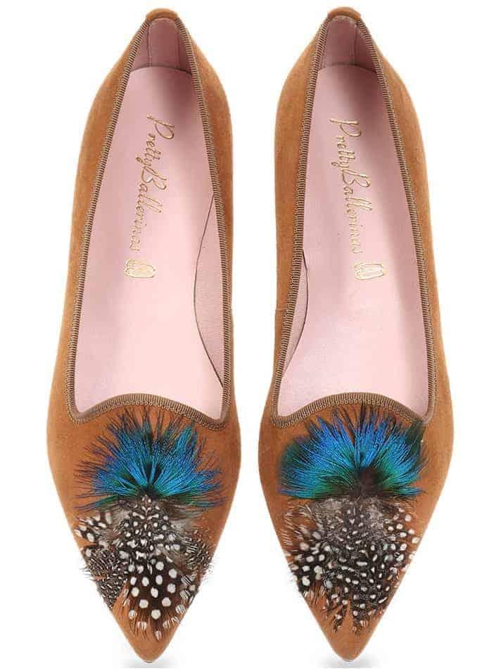 Peacock|חום|נעלי בובה|נעלי בלרינה|נעליים שטוחות|נעליים נוחות|ballerinas