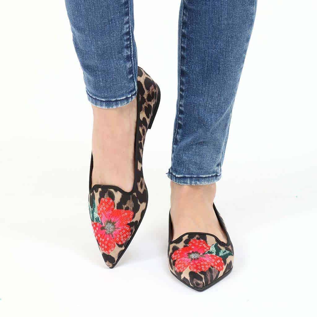 Leopard Rose|כאמל|שחור|חום|נעלי בובה|נעלי בלרינה|נעליים שטוחות|נעליים נוחות|ballerinas