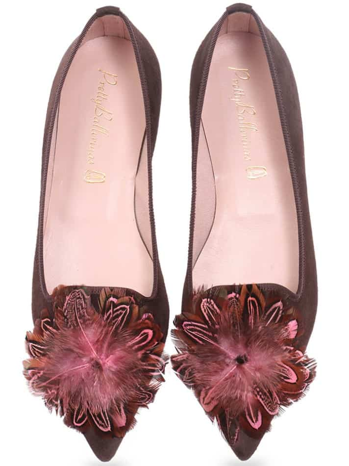 Kisha|חום|נעלי בובה|נעלי בלרינה|נעליים שטוחות|נעליים נוחות|ballerinas
