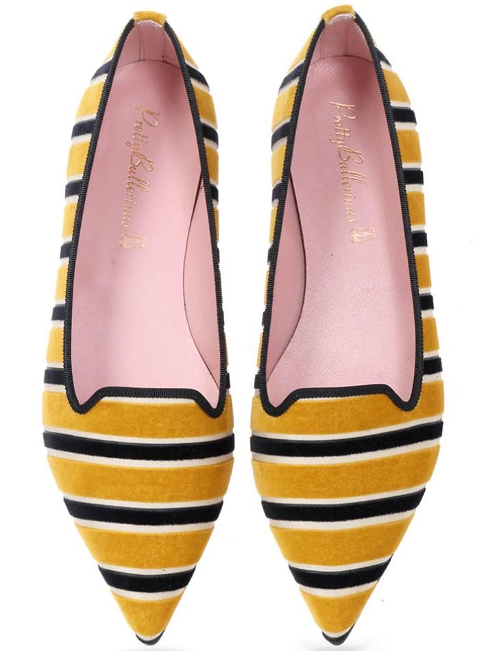 Samara|צהוב|אבן|שחור|נעלי בובה|נעלי בלרינה|נעליים שטוחות|נעליים נוחות|ballerinas