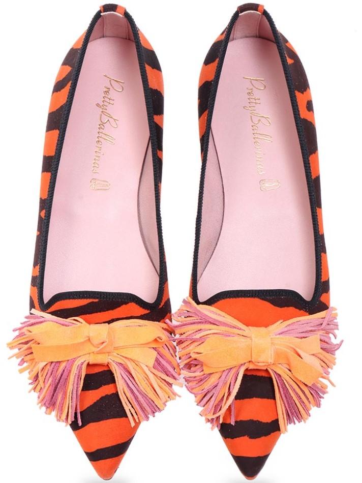 Jadepy|כתום|שחור|נעלי בובה|נעלי בלרינה|נעליים שטוחות|נעליים נוחות|ballerinas