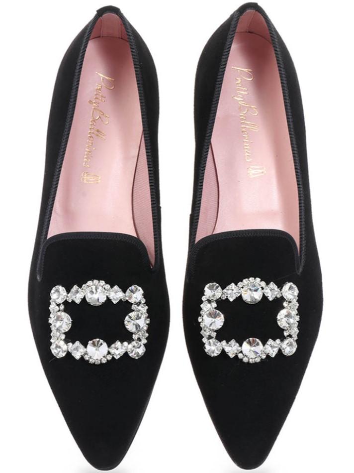 Shelby|שחור|נעלי בובה|נעלי בלרינה|נעליים שטוחות|נעליים נוחות|ballerinas