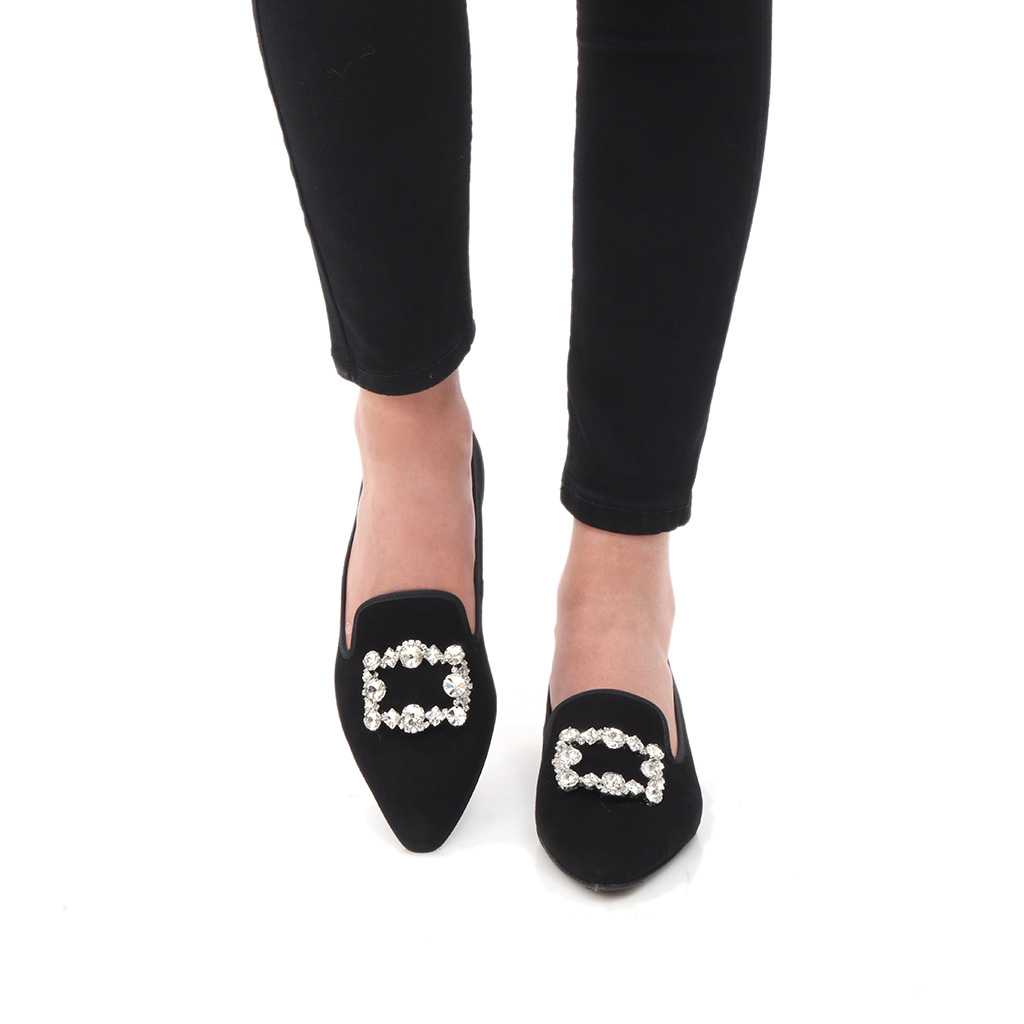 Shelby שחור נעלי בובה נעלי בלרינה נעליים שטוחות נעליים נוחות ballerinas