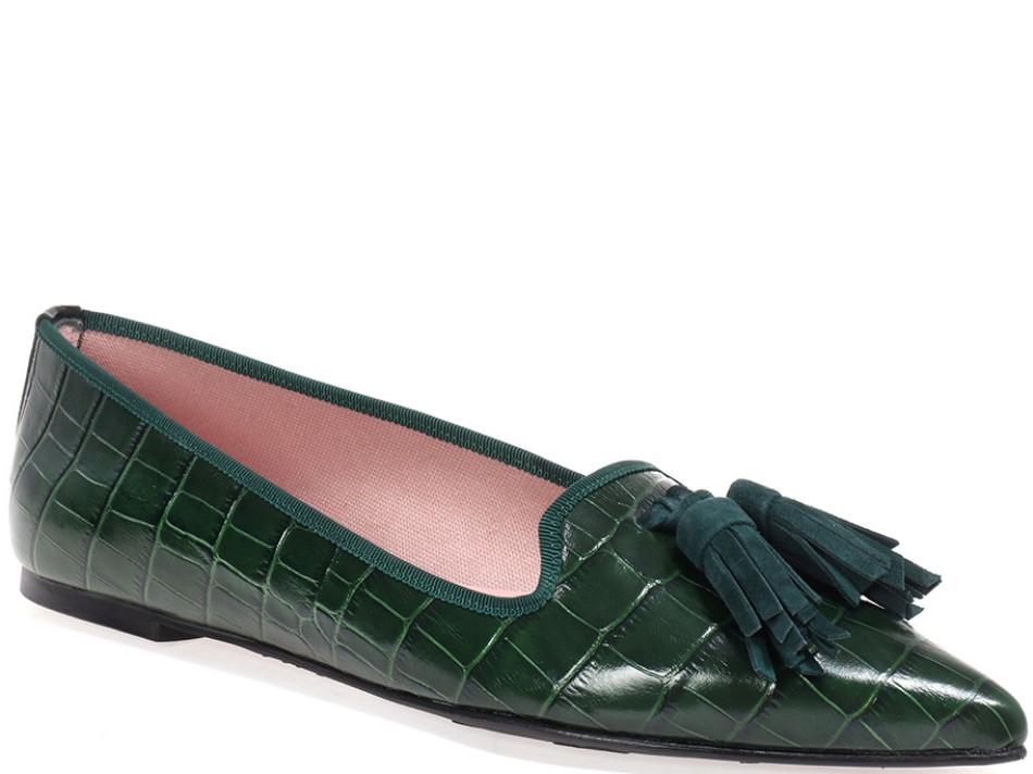Phoebe|ירוק|נעלי בובה|נעלי בלרינה|נעליים שטוחות|נעליים נוחות|ballerinas