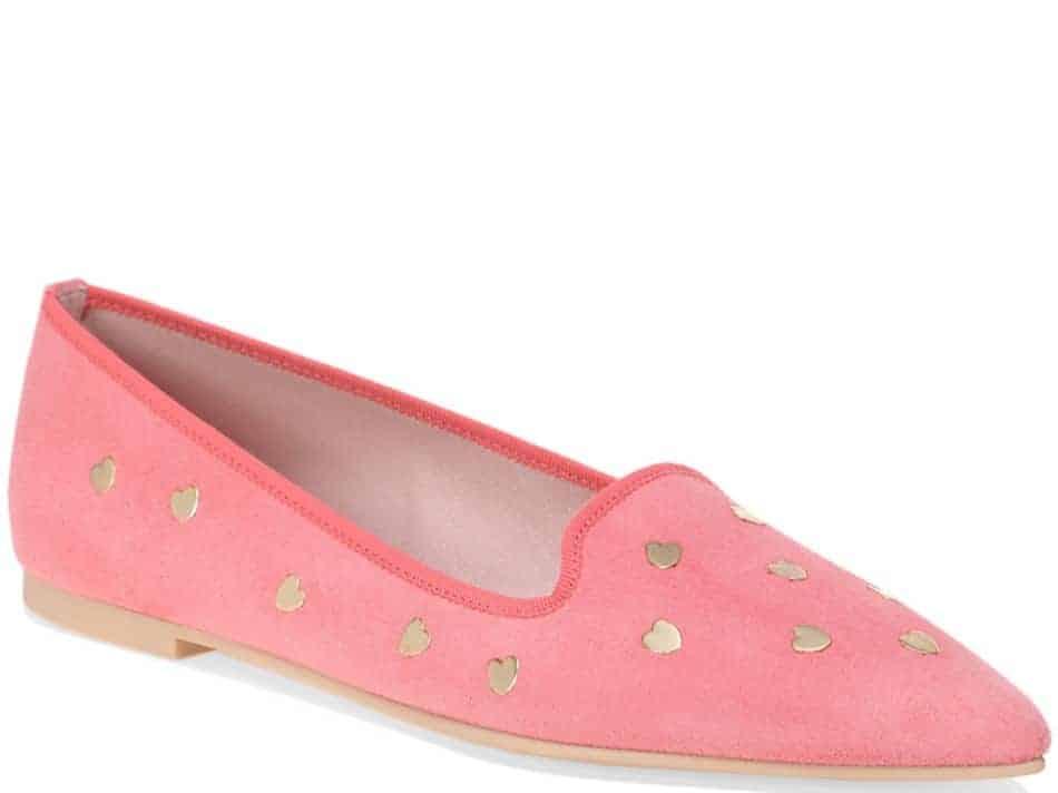 Open Heart|ורוד|נעלי בובה|נעלי בלרינה|נעליים שטוחות|נעליים נוחות|ballerinas