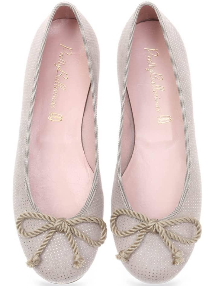 Sand Drops Rosario|אפור|כסף|נעלי בובה|נעלי בלרינה|נעליים שטוחות|נעליים נוחות|ballerinas