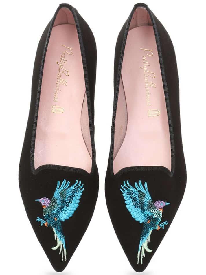 Night Parrot|שחור|נעלי בובה|נעלי בלרינה|נעליים שטוחות|נעליים נוחות|ballerinas