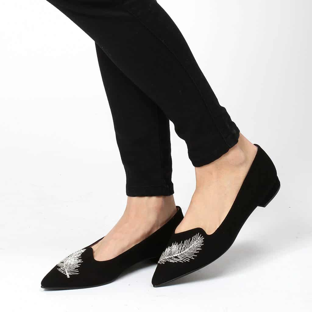 Think Feather|שחור|עקב|נעלי עקב|Heels