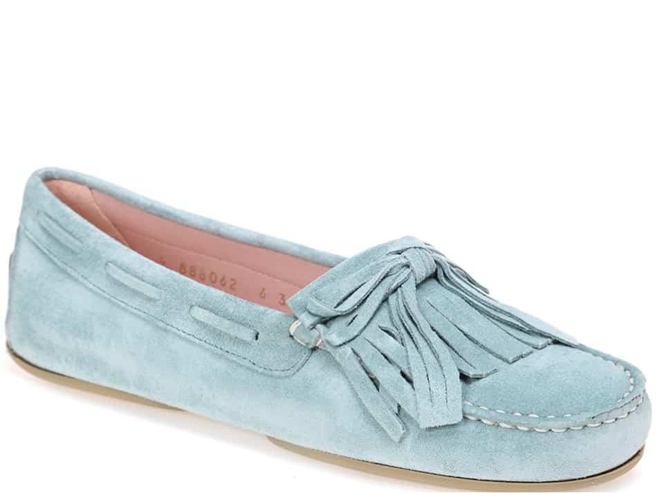 Abby|כחול|ירוק|מוקסין|מוקסינים|נעליים שטוחות|moccasin