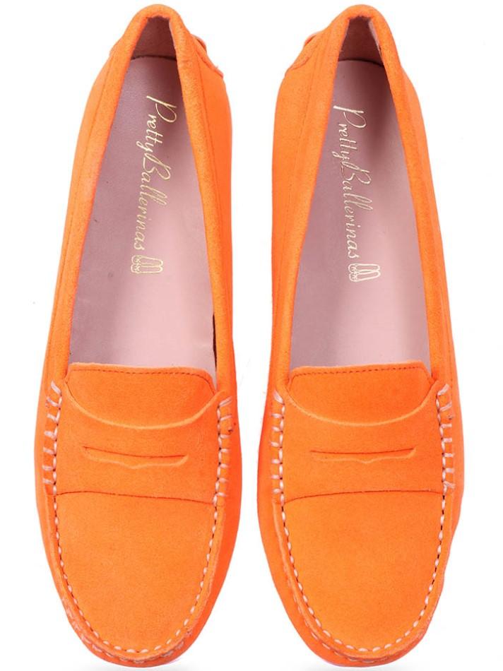 Kiraxi|כתום|מוקסין|מוקסינים|נעליים שטוחות|moccasin