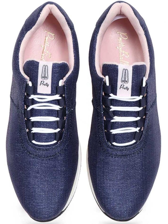 Aurora|כחול|סניקרס|סניקרס לנשים|נעליים שטוחות