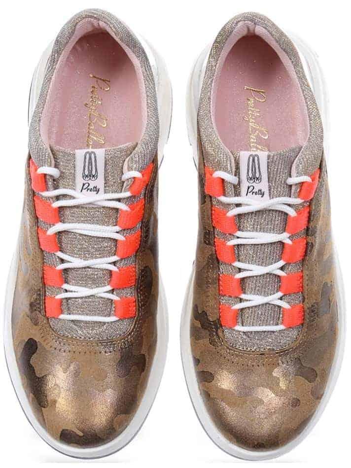 Camo Sneakers|ירוק|כאמל|כסף|סניקרס|סניקרס לנשים|נעליים שטוחות