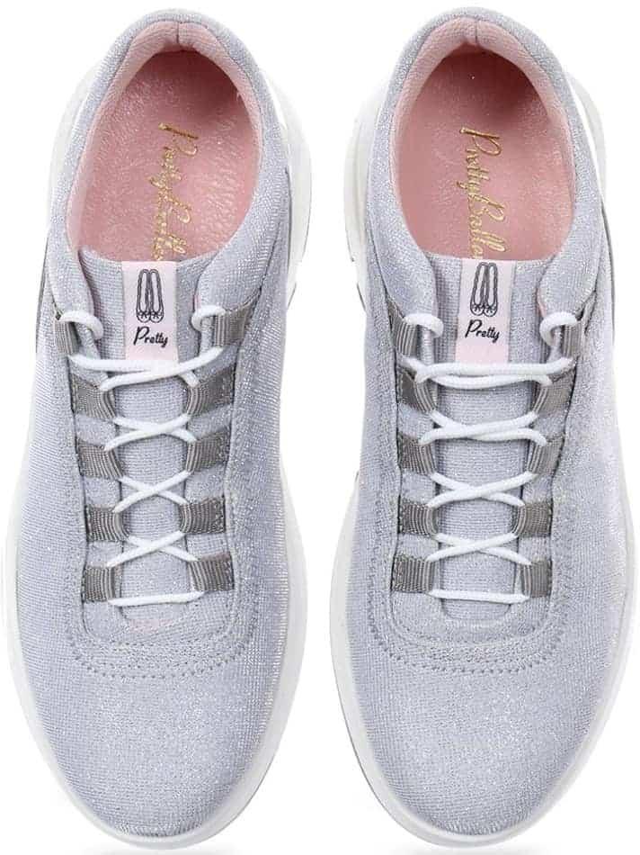 Sparkle Sneakers כסף סניקרס סניקרס לנשים נעליים שטוחות