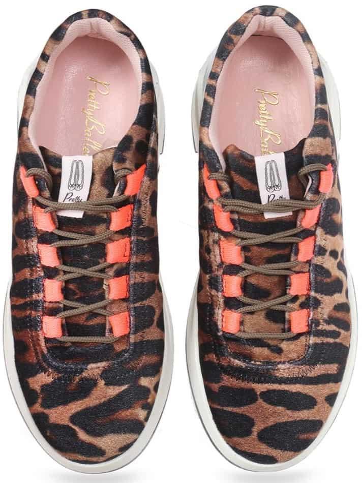 Glam Sneakers|חום|שחור|סניקרס|סניקרס לנשים|נעליים שטוחות