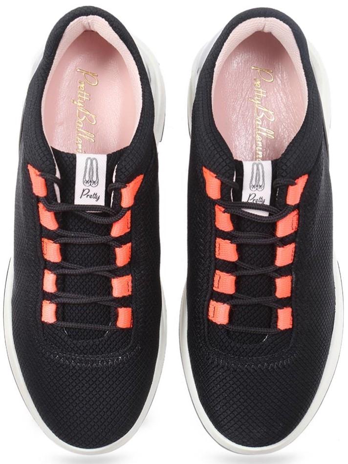 Contrast Sneakers|שחור|סניקרס|סניקרס לנשים|נעליים שטוחות