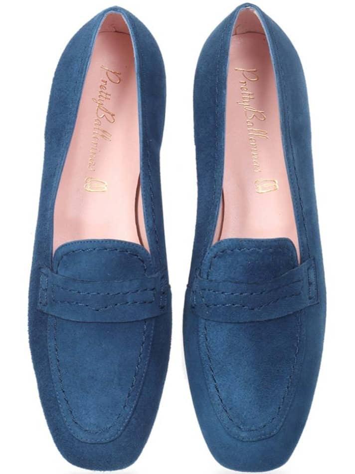 Drew|כחול|מוקסין|מוקסינים|נעליים שטוחות|moccasin