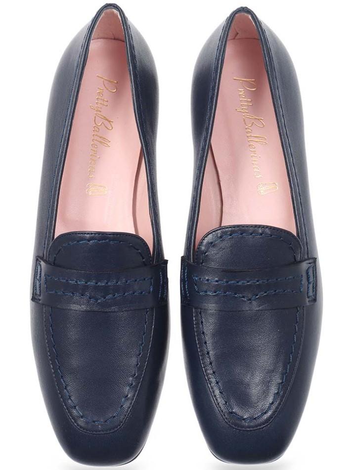 Dark Cave|כחול|מוקסין|מוקסינים|נעליים שטוחות|moccasin