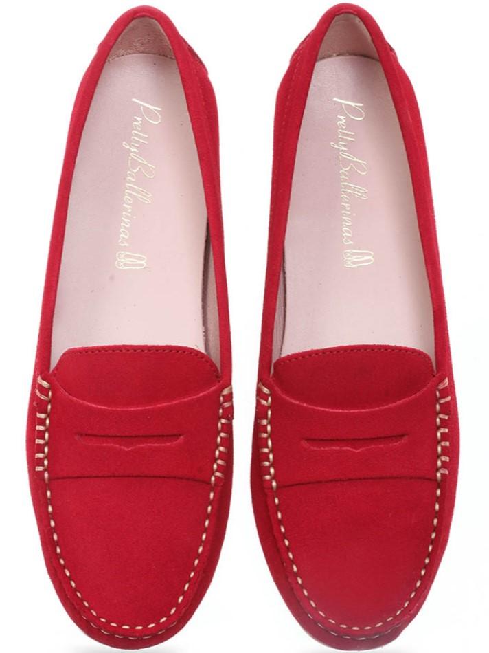 Spirea|אדום|מוקסין|מוקסינים|נעליים שטוחות|moccasin
