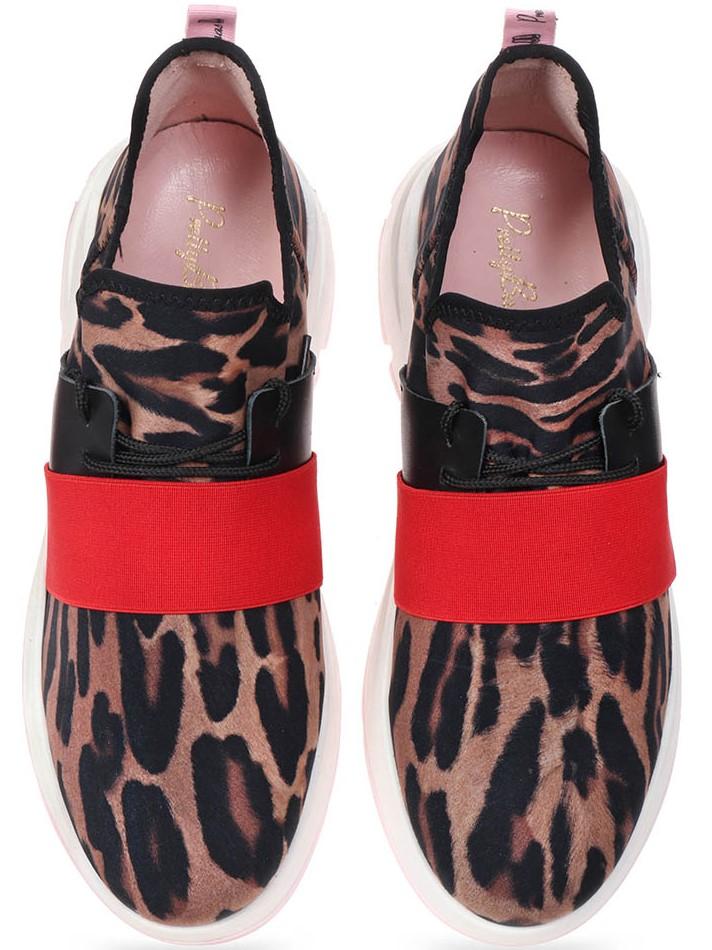 Hiornott|שחור|חום|סניקרס|סניקרס לנשים|נעליים שטוחות