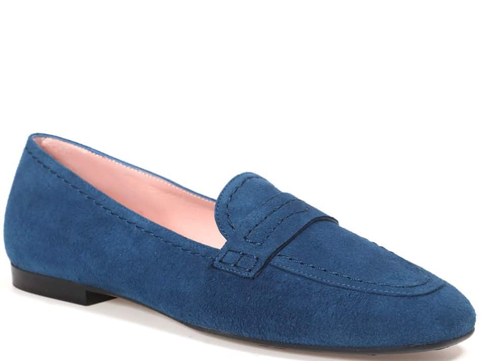 Drew כחול מוקסין מוקסינים נעליים שטוחות moccasin